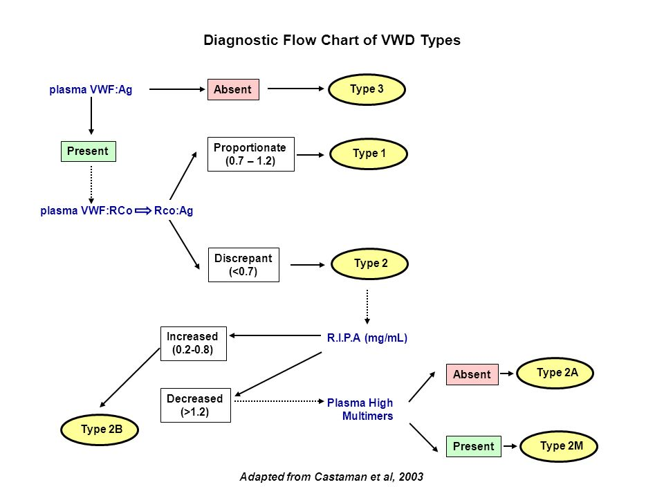 Diagnostic Flow Chart of VWD Types