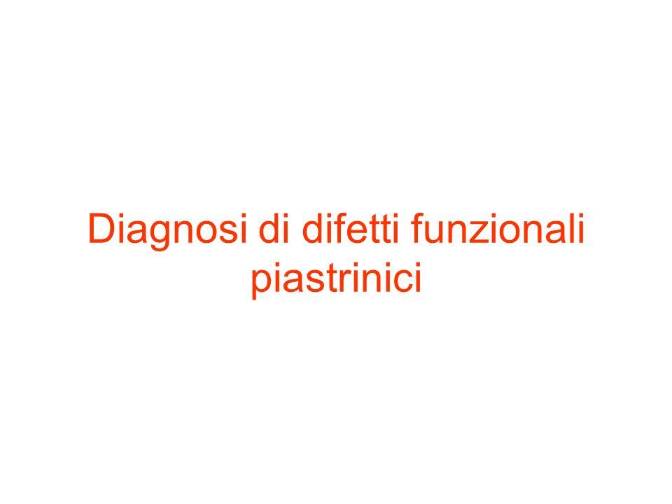 Diagnosi di difetti funzionali piastrinici