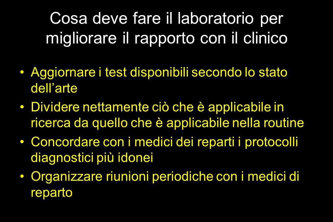 Cosa deve fare il laboratorio per migliorare il rapporto con il clinico