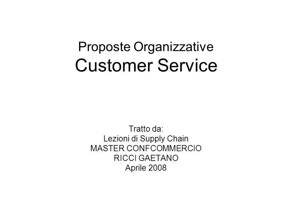 Proposte Organizzative Customer Service