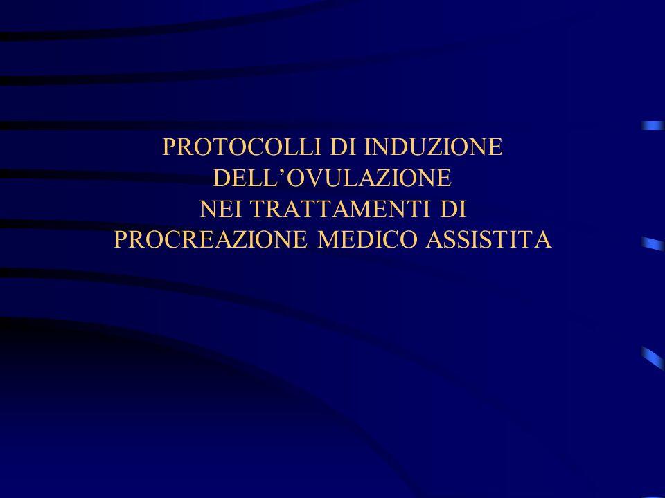 PROTOCOLLI DI INDUZIONE DELL'OVULAZIONE NEI TRATTAMENTI DI PROCREAZIONE MEDICO ASSISTITA