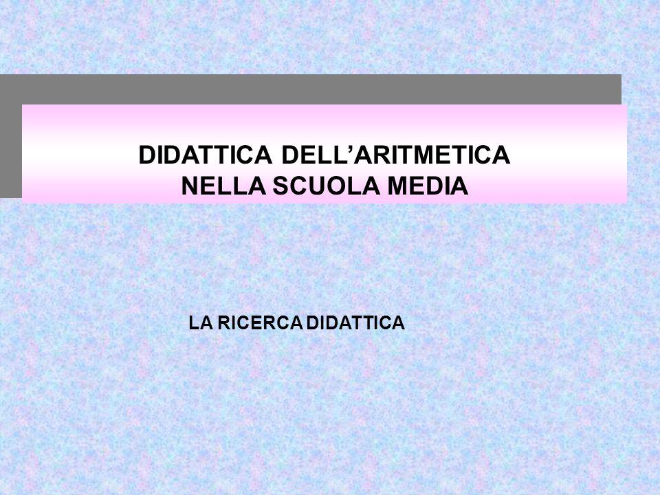 DIDATTICA DELL'ARITMETICA