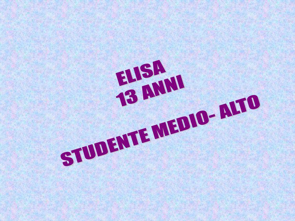 ELISA 13 ANNI STUDENTE MEDIO- ALTO