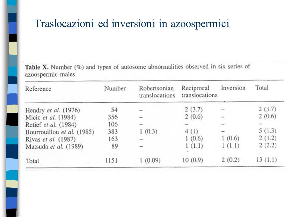 Traslocazioni ed inversioni in azoospermici
