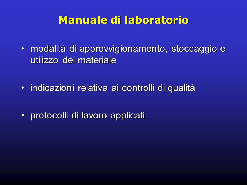 Manuale di laboratorio