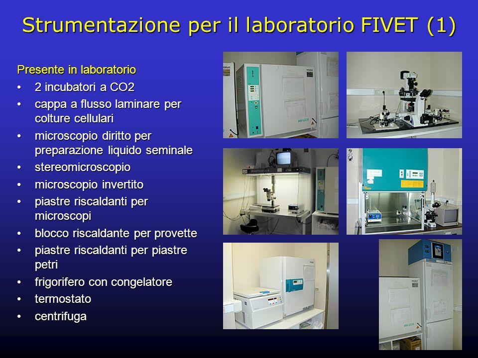 Strumentazione per il laboratorio FIVET (1)