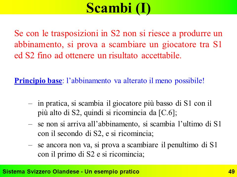 Scambi (I)