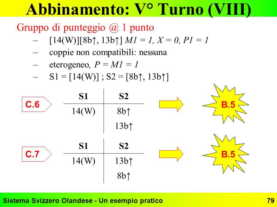 Abbinamento: V° Turno (VIII)