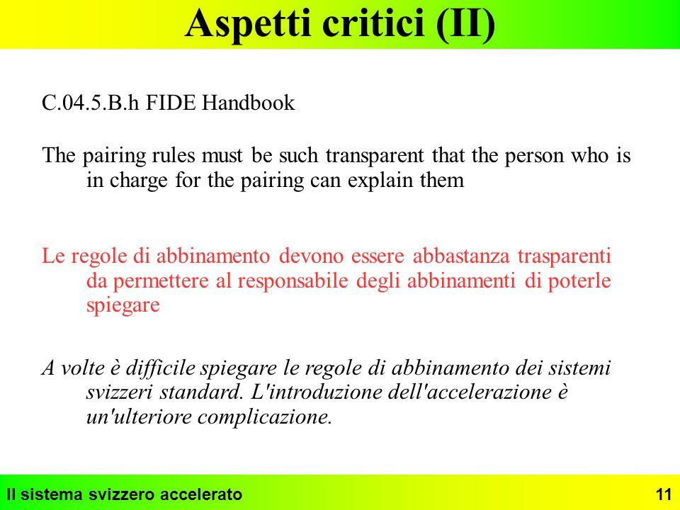 Aspetti critici (II) C.04.5.B.h FIDE Handbook