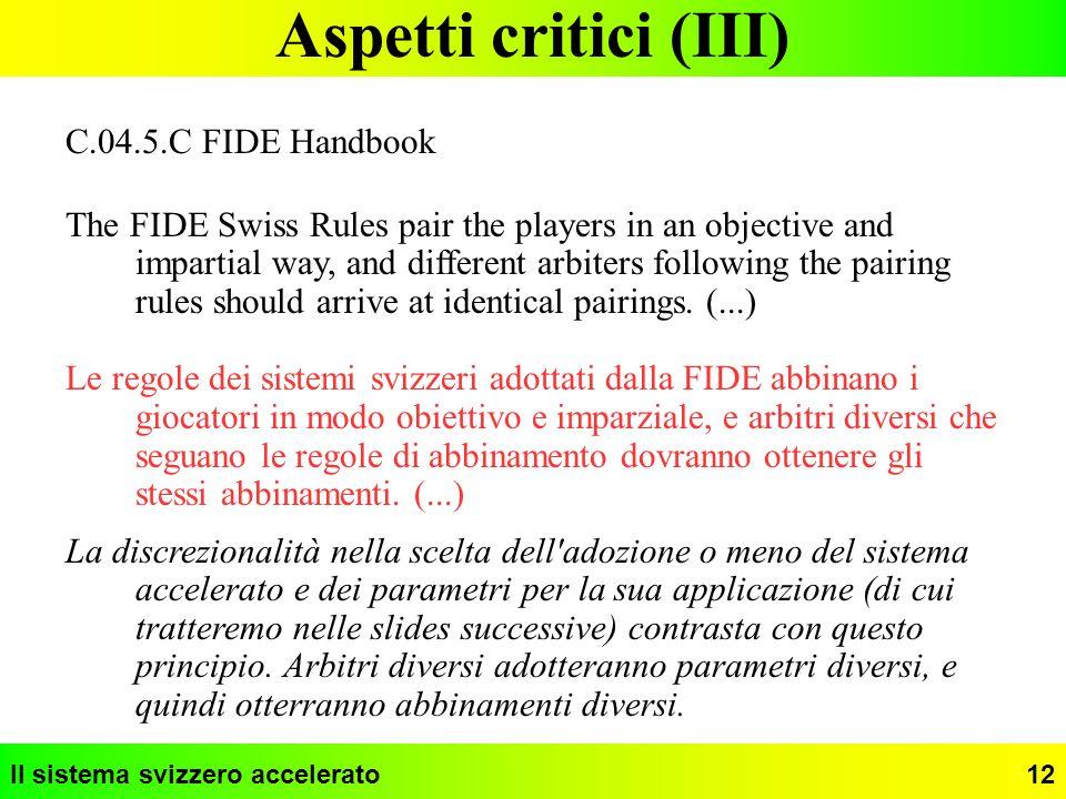 Aspetti critici (III) C.04.5.C FIDE Handbook