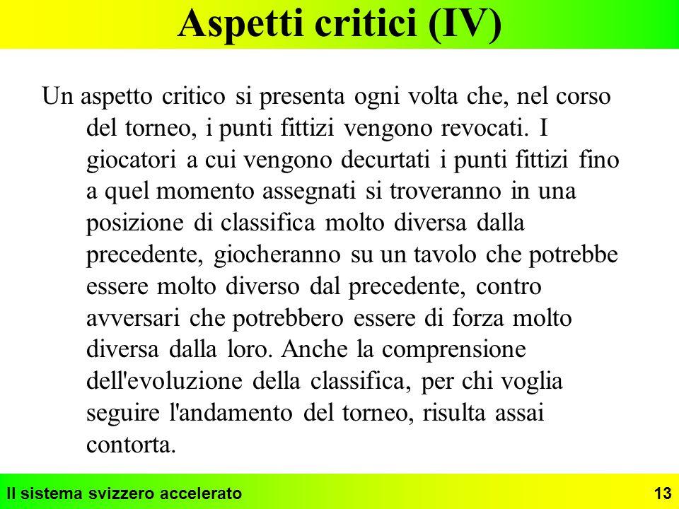 Aspetti critici (IV)