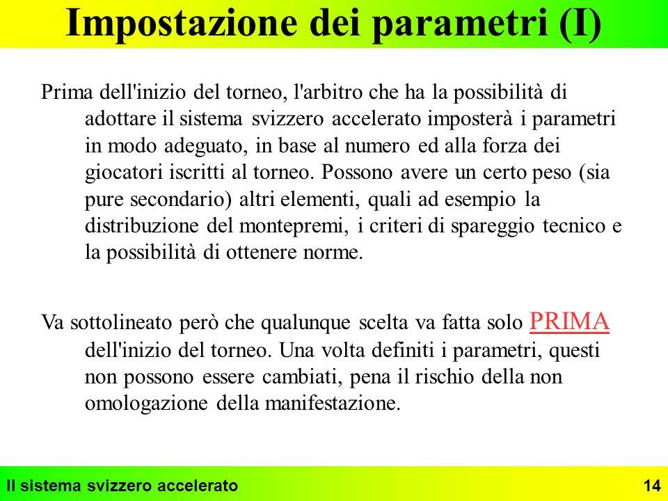 Impostazione dei parametri (I)