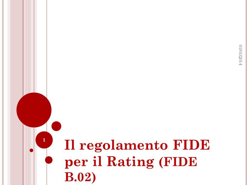 Il regolamento FIDE per il Rating (FIDE B.02)