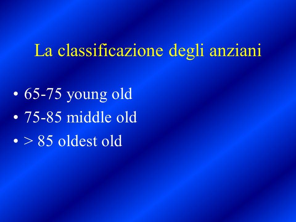 La classificazione degli anziani