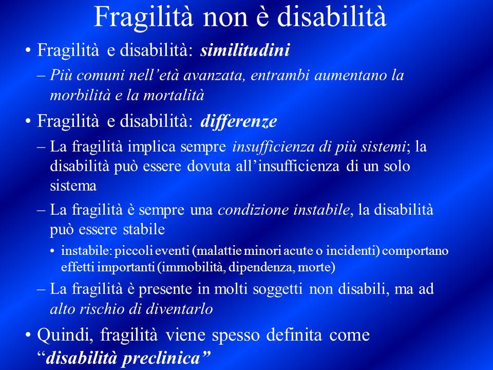 Fragilità non è disabilità