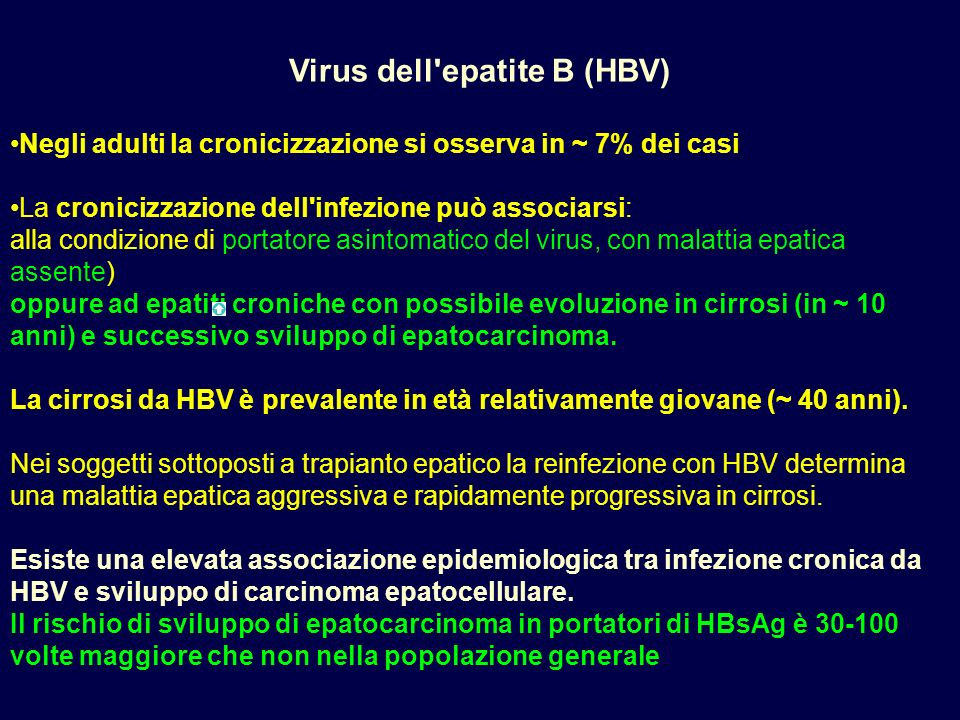 Virus dell epatite B (HBV)