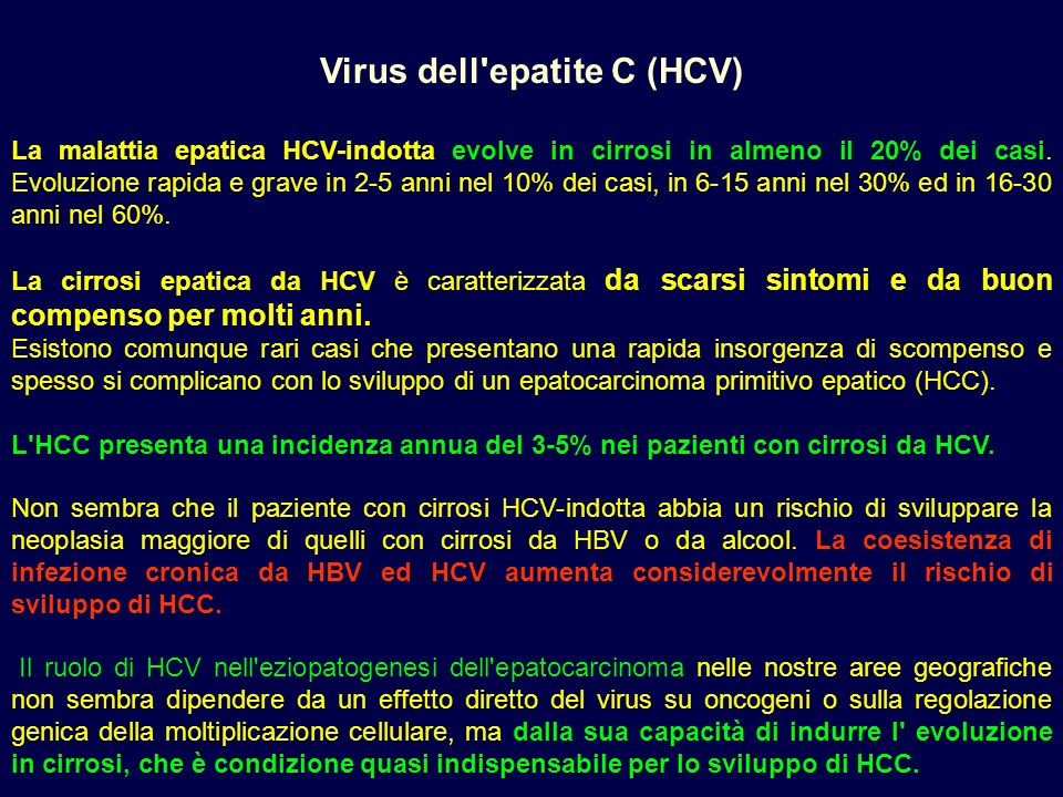 Virus dell epatite C (HCV)