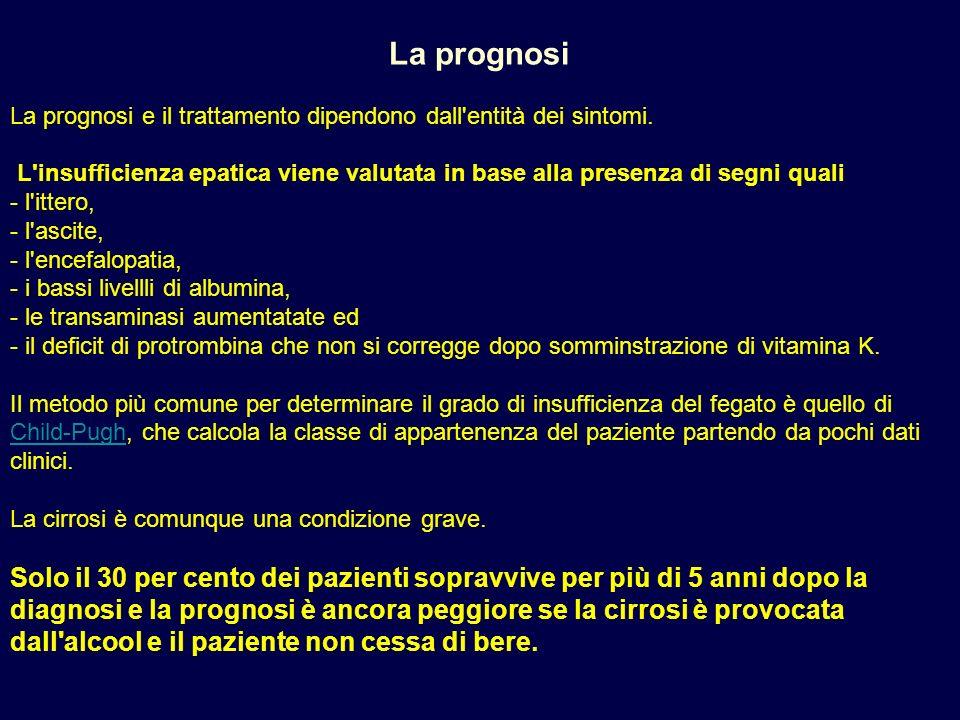 La prognosi La prognosi e il trattamento dipendono dall entità dei sintomi.
