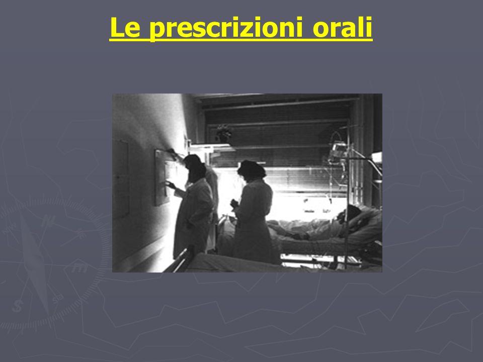 Le prescrizioni orali