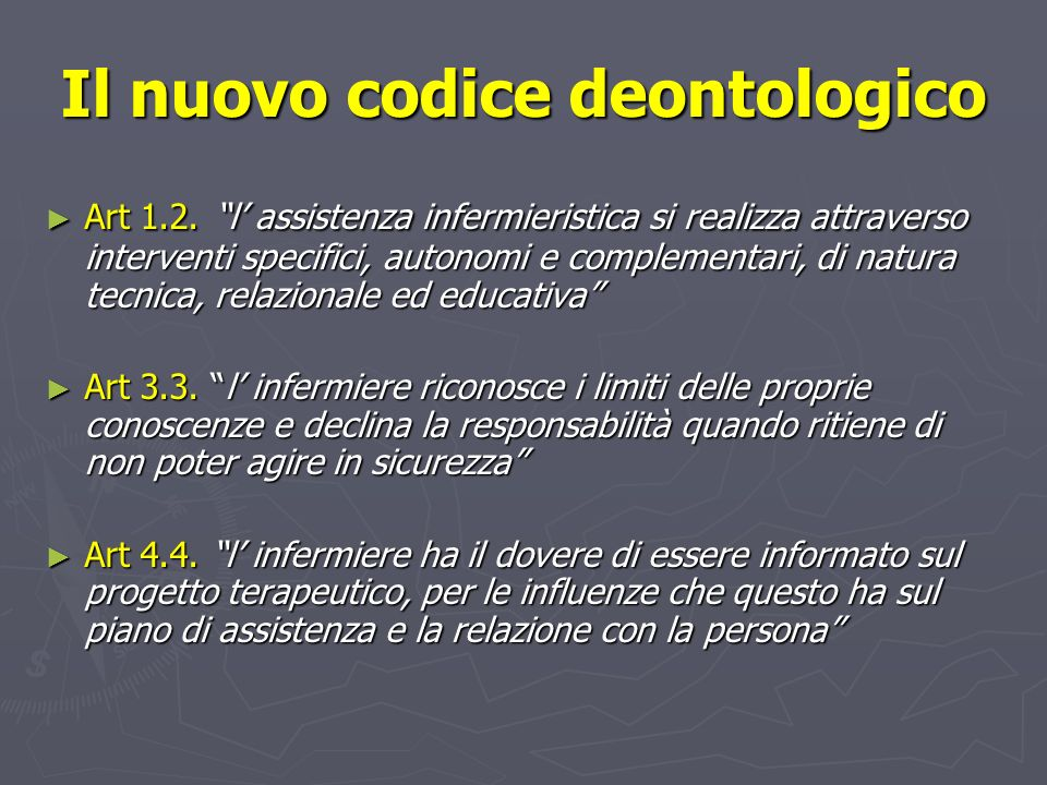 Il nuovo codice deontologico
