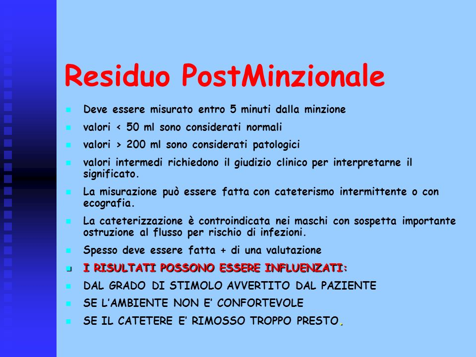 Residuo PostMinzionale