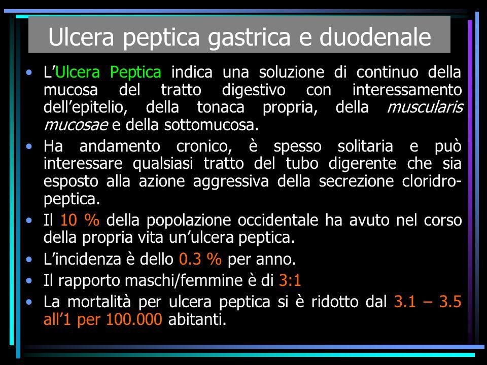 Ulcera peptica gastrica e duodenale