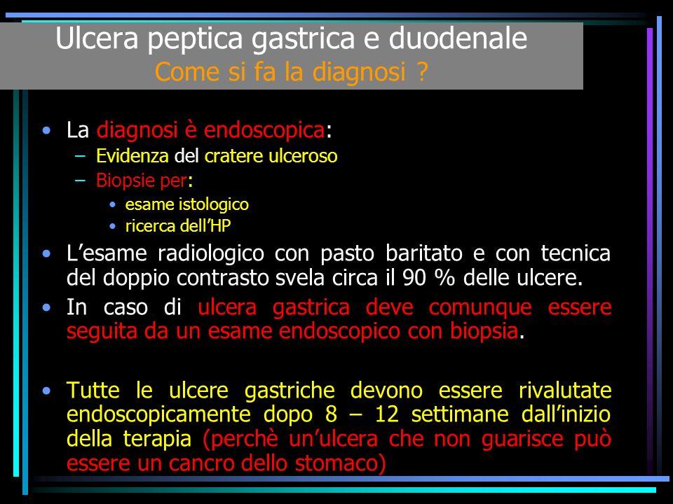Ulcera peptica gastrica e duodenale Come si fa la diagnosi