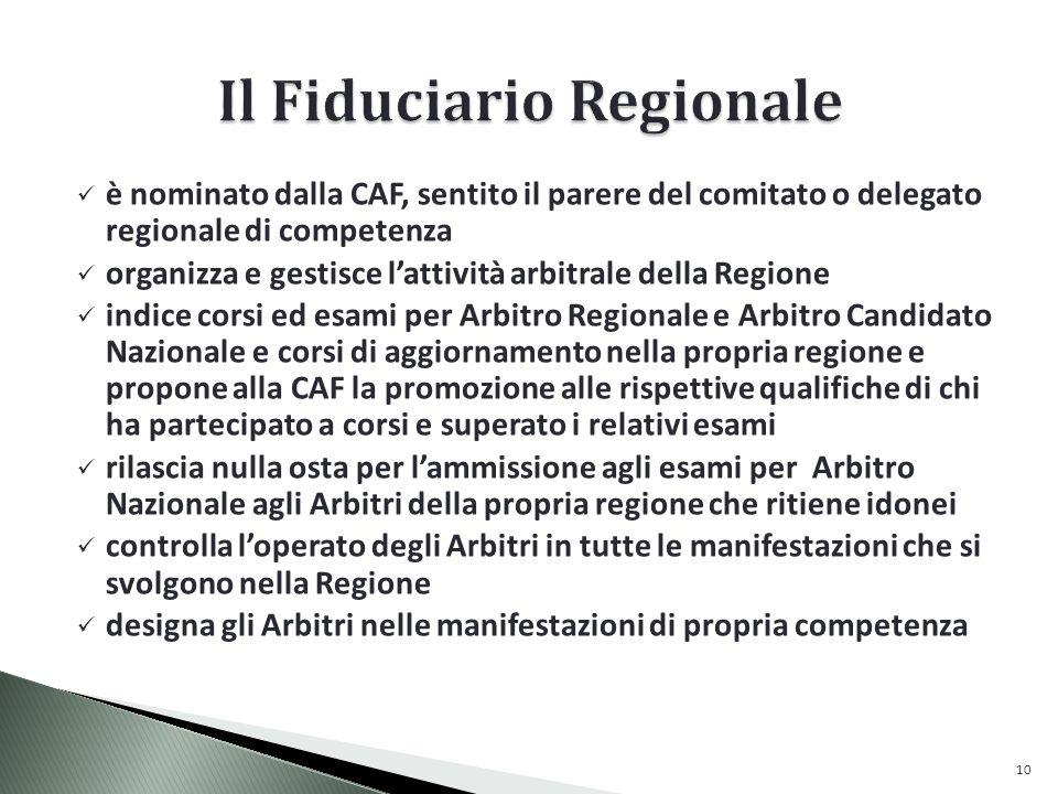 Il Fiduciario Regionale