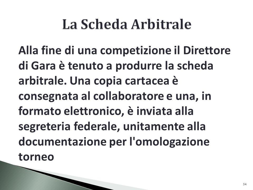 La Scheda Arbitrale