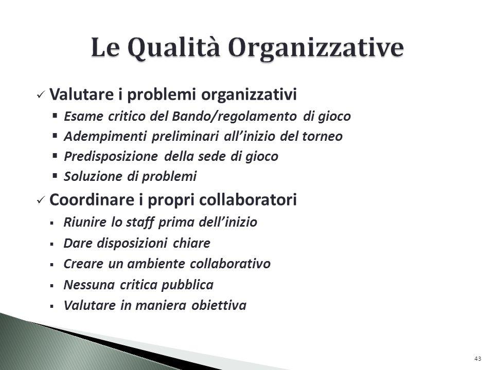 Le Qualità Organizzative