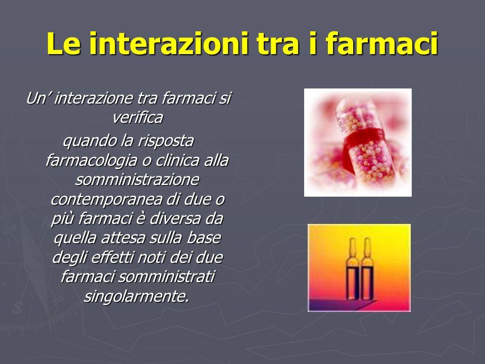 Le interazioni tra i farmaci