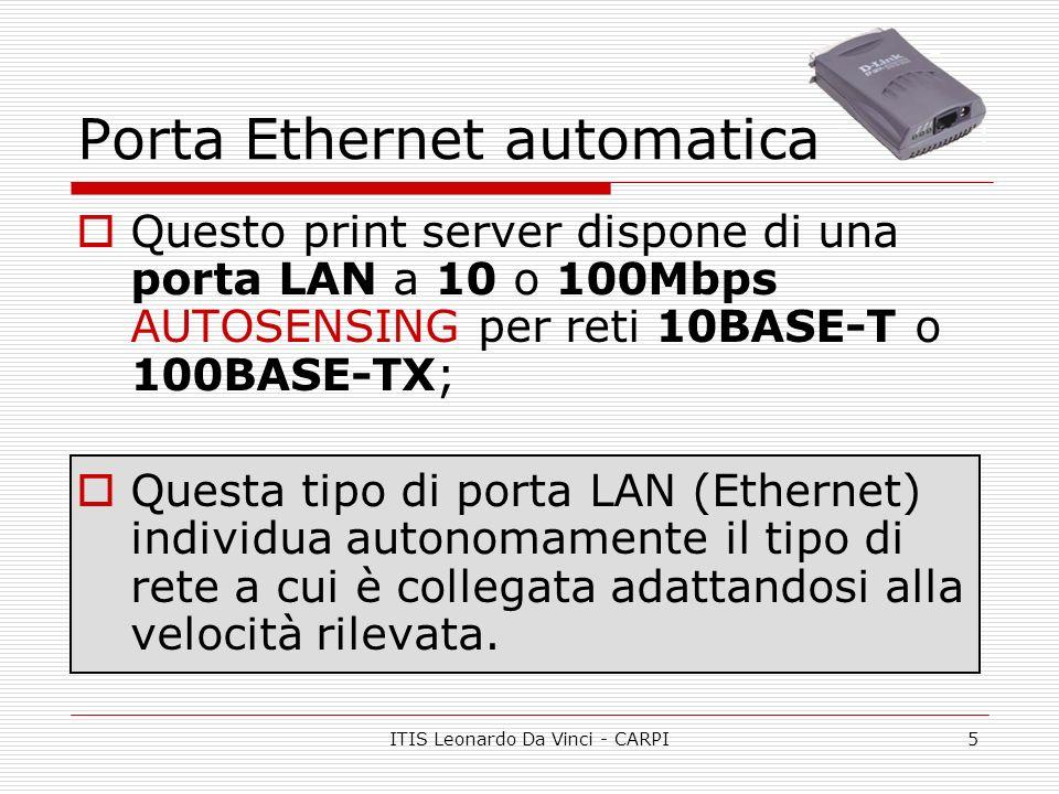 Porta Ethernet automatica