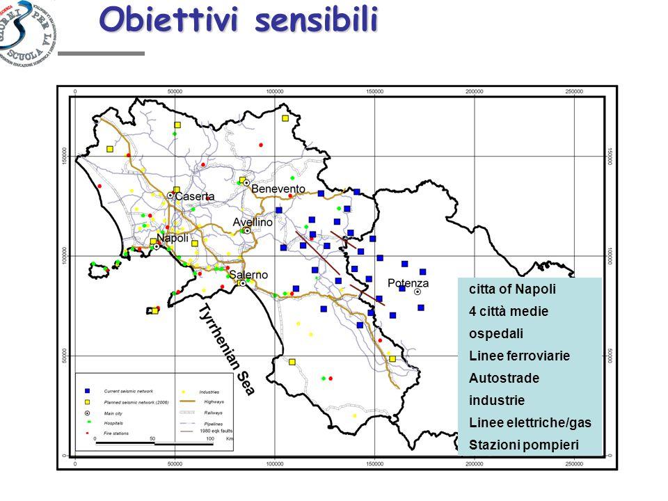 Obiettivi sensibili citta of Napoli 4 città medie ospedali
