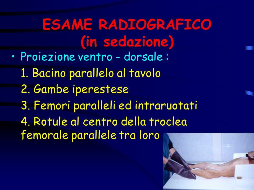 ESAME RADIOGRAFICO (in sedazione)