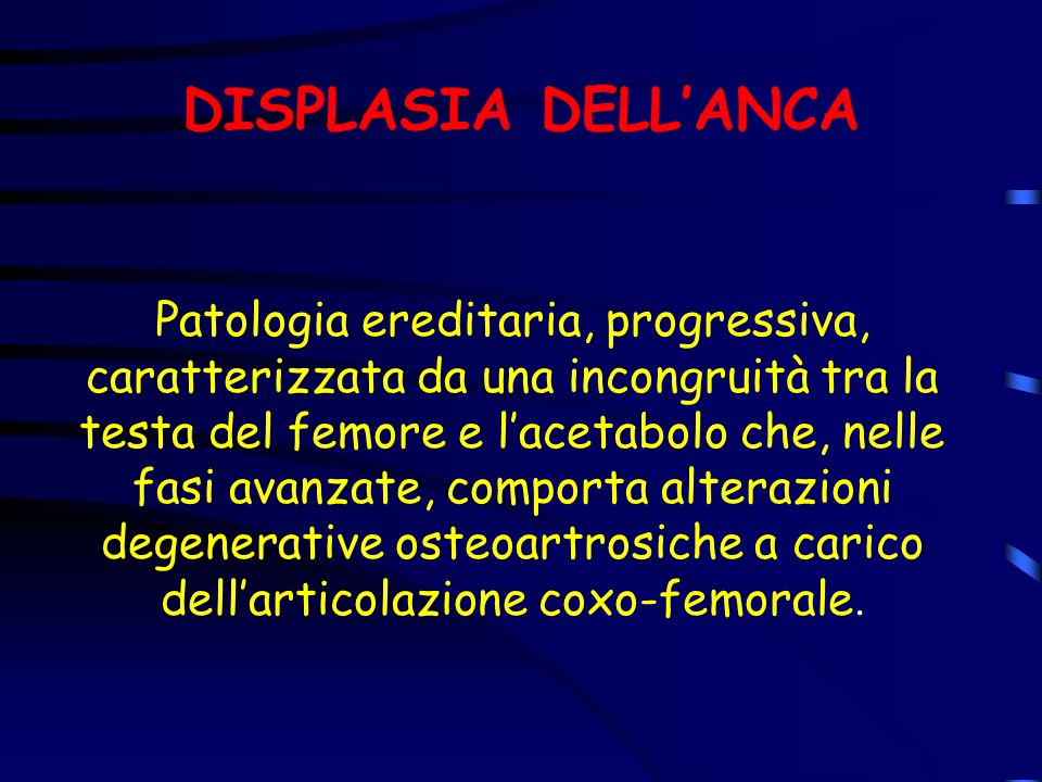DISPLASIA DELL'ANCA