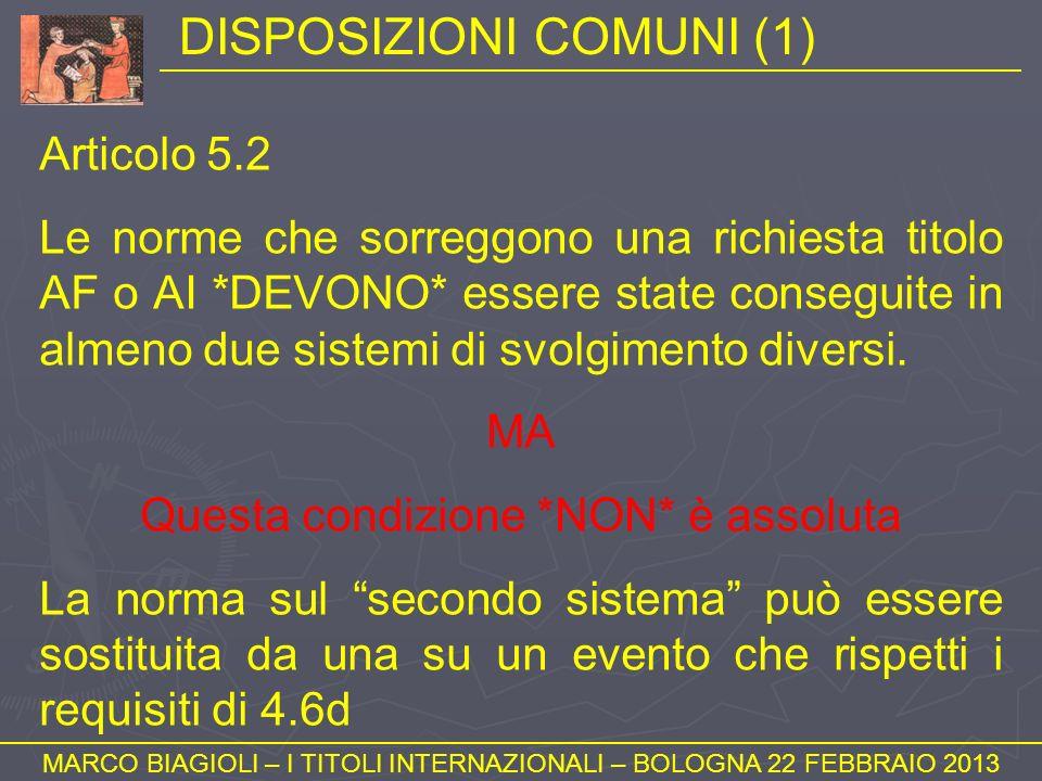 DISPOSIZIONI COMUNI (1)