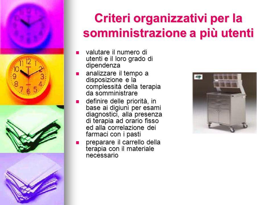 Criteri organizzativi per la somministrazione a più utenti