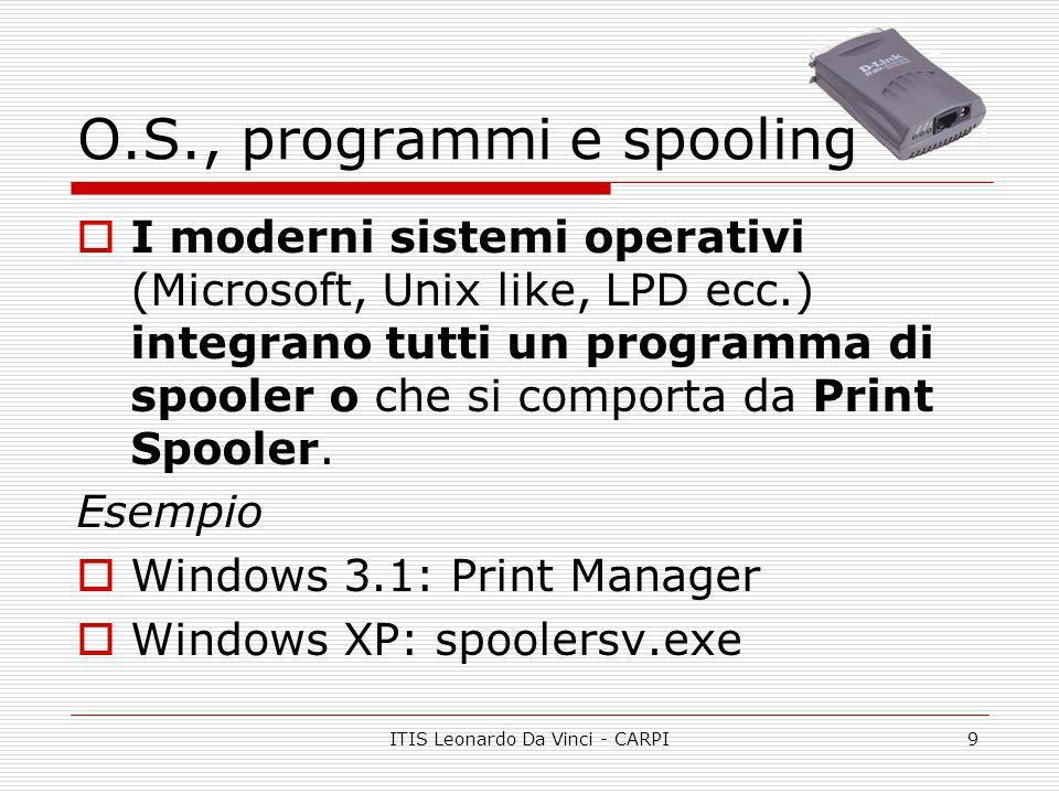 O.S., programmi e spooling