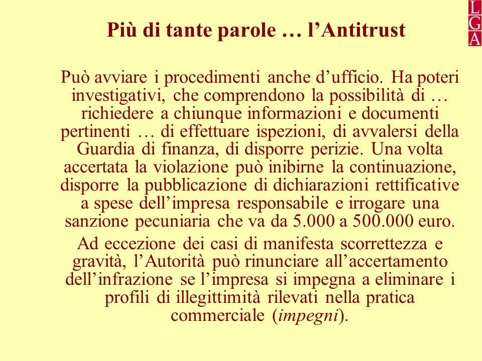 Più di tante parole … l'Antitrust