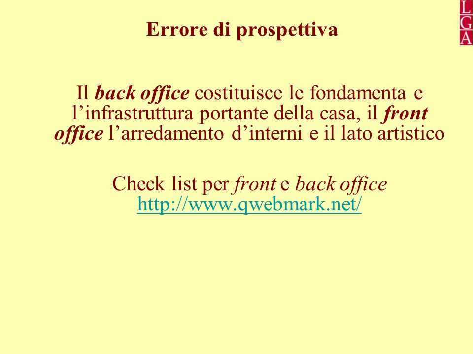 Check list per front e back office http://www.qwebmark.net/