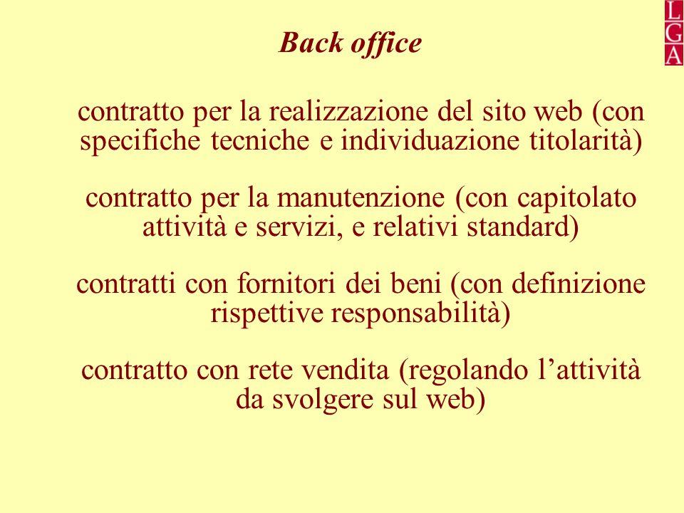contratto con rete vendita (regolando l'attività da svolgere sul web)