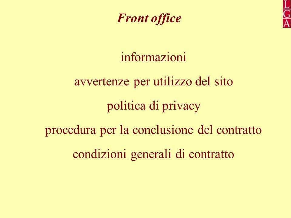 avvertenze per utilizzo del sito politica di privacy