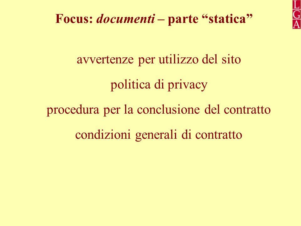 Focus: documenti – parte statica