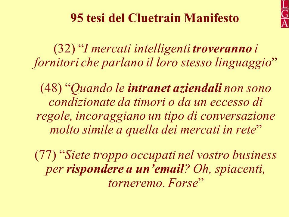 95 tesi del Cluetrain Manifesto