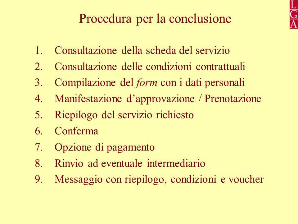 Procedura per la conclusione