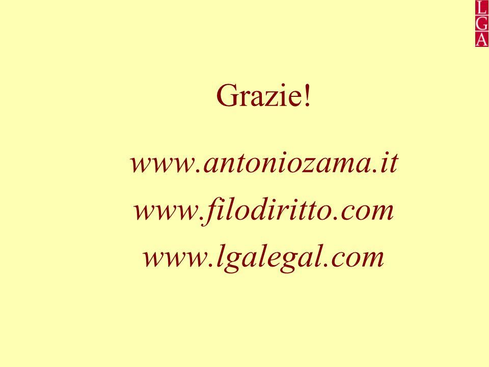 Grazie! www.antoniozama.it www.filodiritto.com www.lgalegal.com