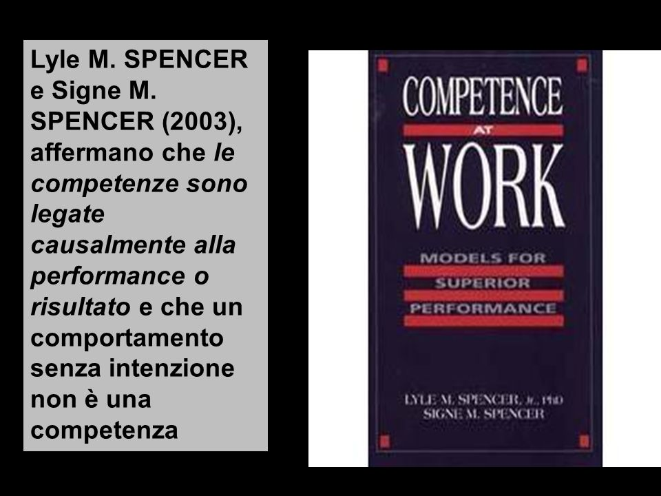 Lyle M.SPENCER e Signe M.
