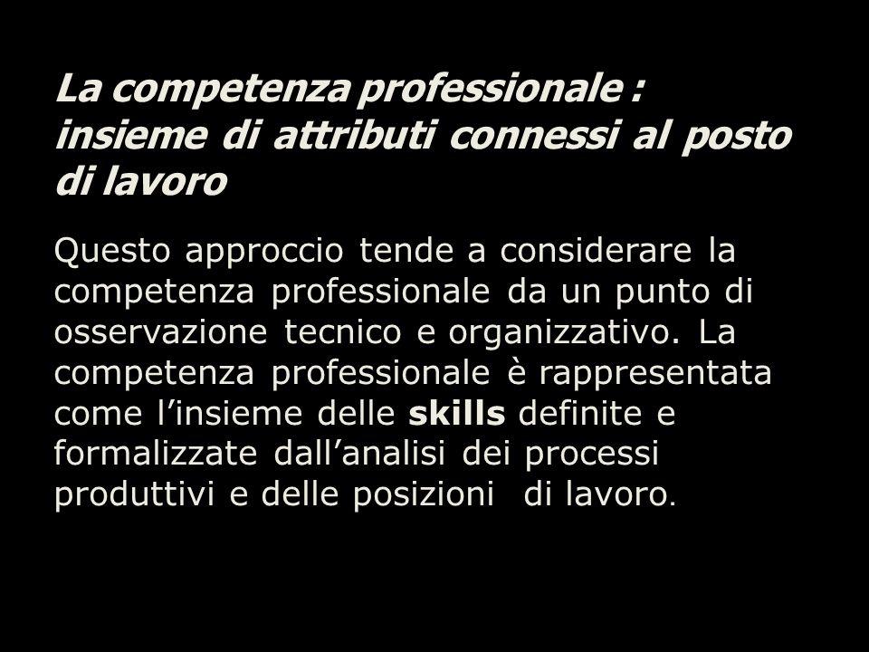 La competenza professionale :