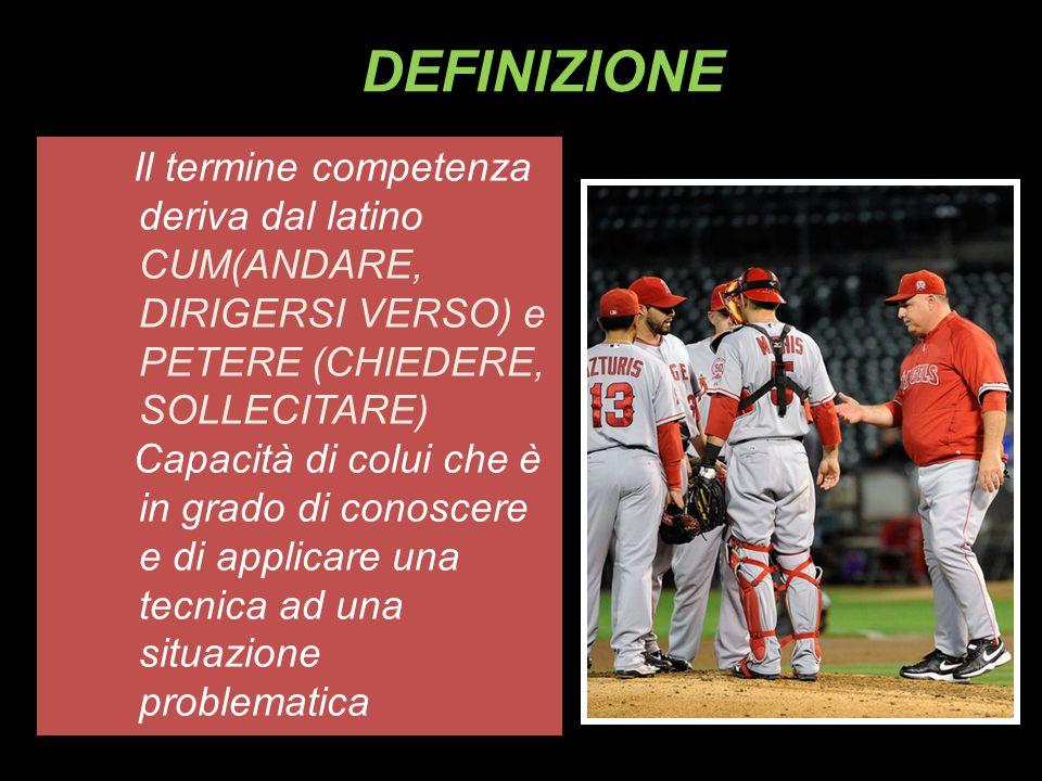 DEFINIZIONEIl termine competenza deriva dal latino CUM(ANDARE, DIRIGERSI VERSO) e PETERE (CHIEDERE, SOLLECITARE)