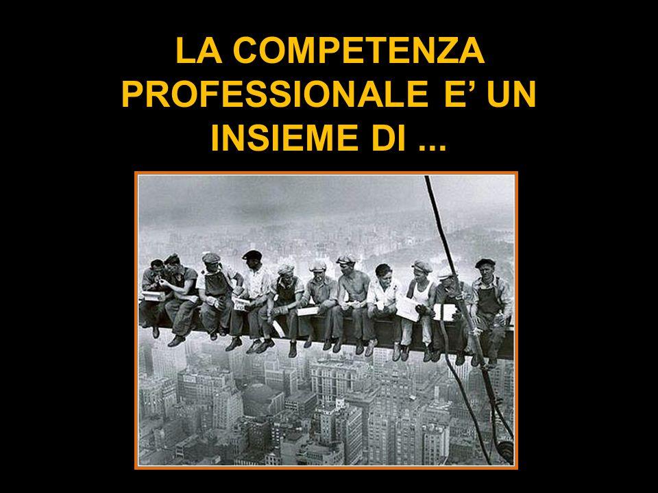 LA COMPETENZA PROFESSIONALE E' UN INSIEME DI ...